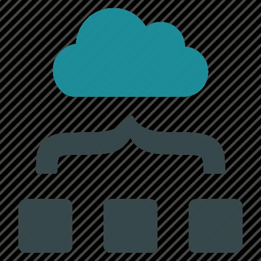 cloud, combine, join, organization, structure, unite, units icon