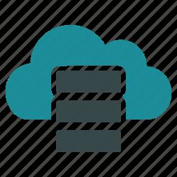 cloud, data, database, online, server, storage, virtual icon