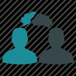 bubble, chat, cloud, dialog, message, online, talk icon