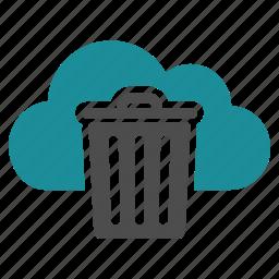 bin, cloud, delete, dust, garbage, remove, trash icon