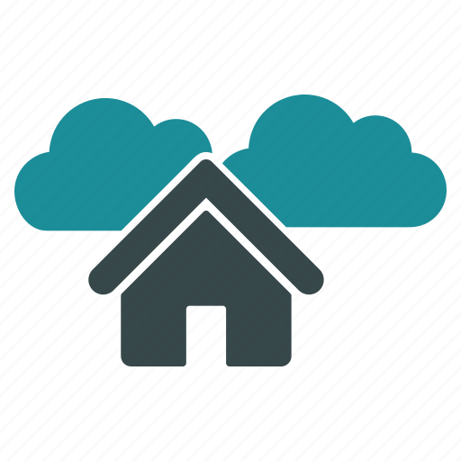 building, cloud, cloudy, forecast, home, house, weather icon