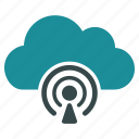 cloud, communication, forecast, internet, news, podcast, weather icon