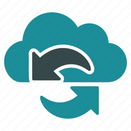 arrows, cloud, online, refresh, reload, sync, update icon