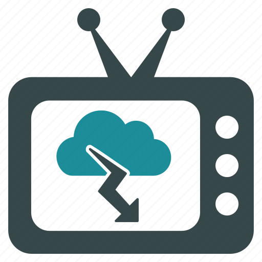clouds, forecast, news, storm, television, tv, weather icon