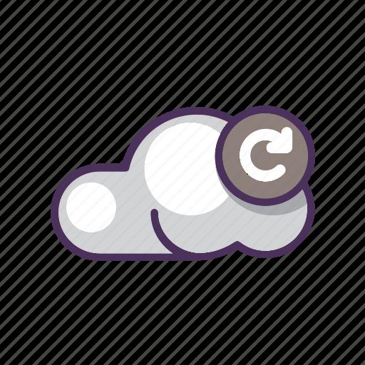 cloud, data, file, refresh, reload, storage, upload icon