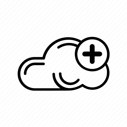 add, cloud, data, file, new, plus, storage icon