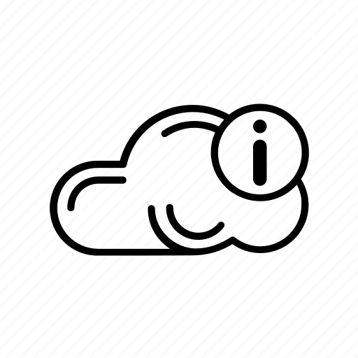 cloud, data, file, info, information, storage icon