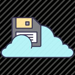 cloud, data, floppy disk, guardar, internet, save, service, storage icon