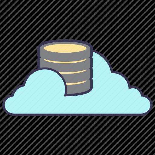 cloud, data, database, information, internet, service, storage icon