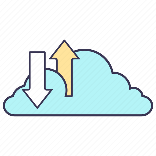cloud, connection, download, internet, service, storage, upload icon