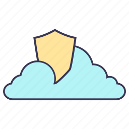 cloud, internet, security, service, shield, storage icon