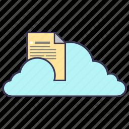 cloud, document, file, information, internet, service, storage icon