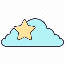 cloud, content, favorite, internet, service, star, storage icon