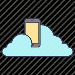 cloud, connection, internet, mobile, network, service, storage icon