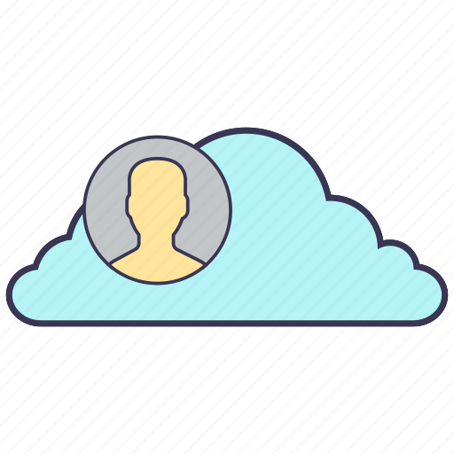 account, avatar, cloud, internet, people, service, storage icon