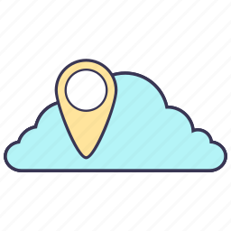 cloud, gps, internet, navigation, point, service, storage icon