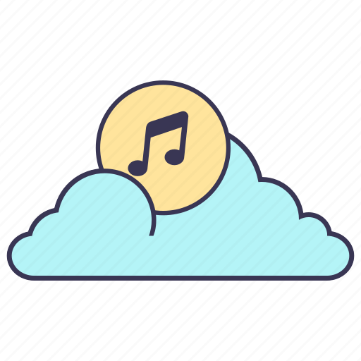 cloud, content, internet, media, music, service, storage icon