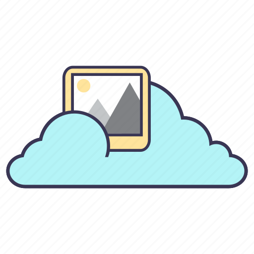 cloud, content, internet, media, pictures, service, storage icon