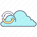cloud, data, internet, media, service, storage, synchronization icon