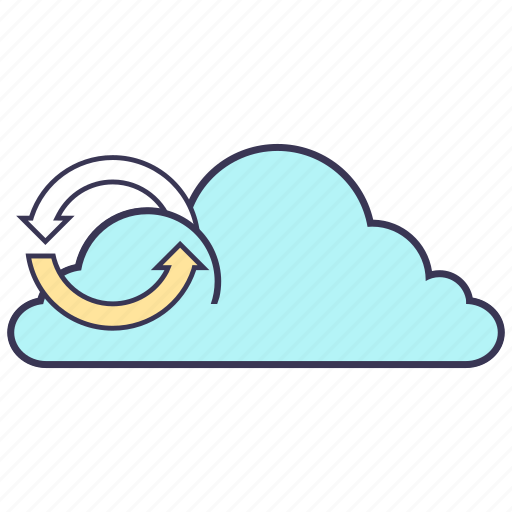 cloud, data, internet, media, service, storage, synchronization icon