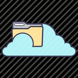 cloud, content, files, folder, media, service, storage icon