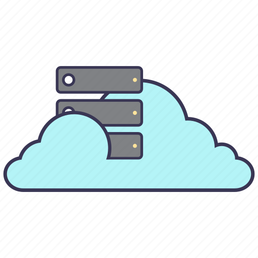 cloud, connection, data, network, servers, service, storage icon
