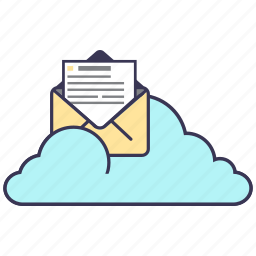 cloud, e-mail, information, internet, mail, service, storage icon