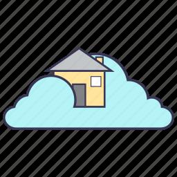 cloud, content, home, internet, service icon