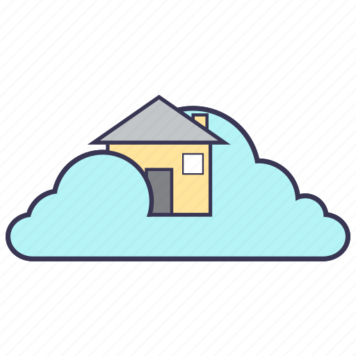 cloud, content, home, internet, service icon