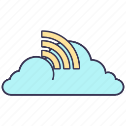 cloud, connection, information, service icon