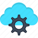 cloud, engine, internet, learning, machine, settings, storage icon