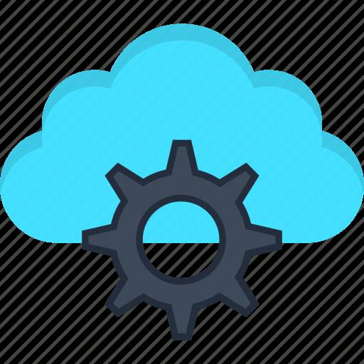 cloud, engine, internet, learning, machine, settings, storage icon