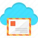 cloud, e-mail, information, internet, letter, mail, storage icon