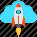 business, cloud, idea, internet, rocket, startup, success