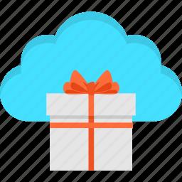 cloud, commerce, e-commerce, gift, giftbox, surprise, win icon