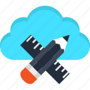 architecture, cloud, design, digital, internet, web, website icon