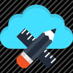 architecture, cloud, design, digital, internet, web, website icon