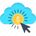 business, cloud, income, money, online, pay per click, website icon
