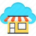 cloud, e-commerce, market, online, shopping, website icon