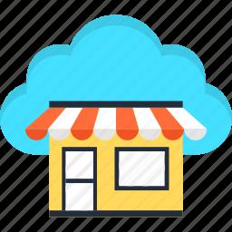 cloud, e-commerce, market, online, shopping, website icon