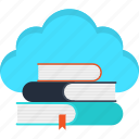cloud, e-learning, education, elearning, internet, learning, school icon