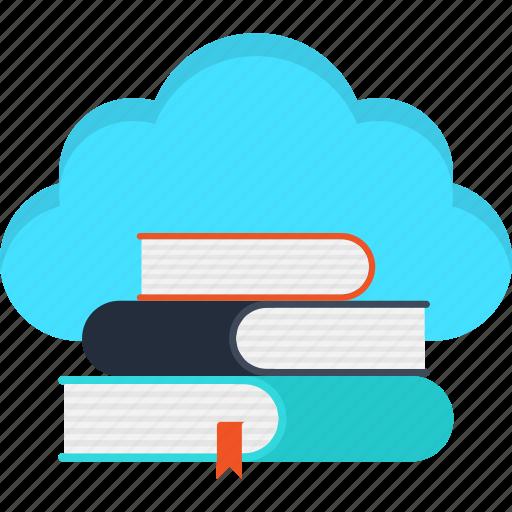cloud, e-learning, education, elearning, internet, learning, school icon