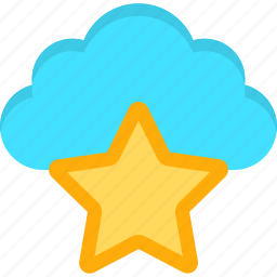bookmark, cloud, content, database, favorite, star, storage icon