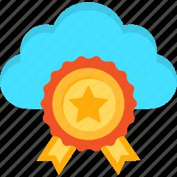award, best, cloud, internet, medal, server, web icon