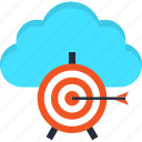 aim, cloud, goal, internet, solution, target, web icon