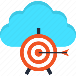 aim, cloud, goal, internet, solution, target, web icon