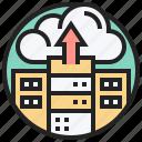 cloud, database, hosting, server, upload