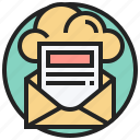 inbox, mail, message, send, text icon
