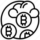 bitcoin, cryptocurrency, exchange, price, trade icon