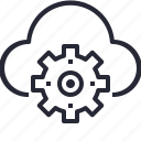 cloud, data, database, internet, network, online, process, technology icon
